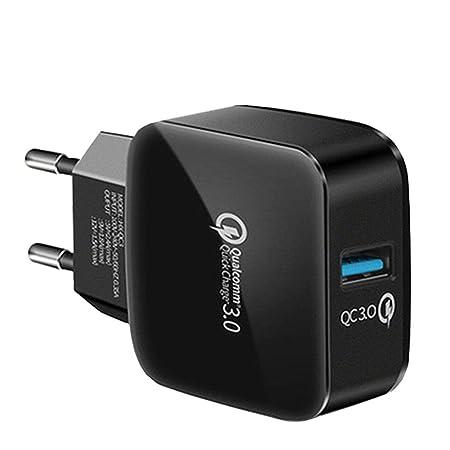 FHHL Adaptador de Viaje de Enchufe USB - Puertos Independientes 5V ...
