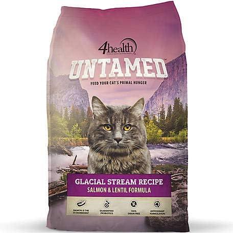 4health Untamed Glacial Stream Recipe Salmon Lentil Formula Cat Food, 6 lb. Bag