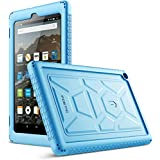 Poetic TurtleSkin All-New Amazon Fire HD 8 2017 Rugged Case Heavy Duty Silicone and Sound-Amplification Feature Cover for Amazon Fire HD 8 2017 (7th Generation,2017 Release) Blue