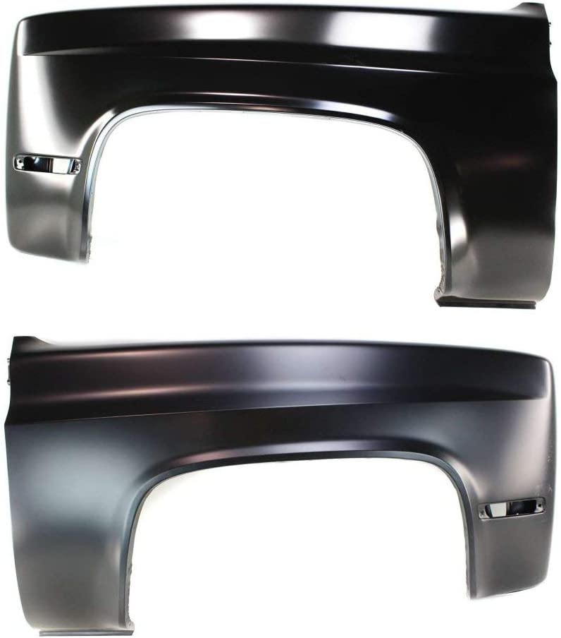Fender compatible with 1986 Chevrolet C30 CAPA Certified Set of 2 Steel Primed Front Left and Right Side