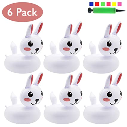 amazon com petuol inflatable drink holders bunny 6 packs rabbit