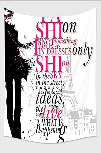 -Fashion House Decor Woman with Elegant Shawl Paris in Autumn