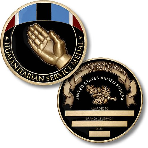 - Humanitarian Service Medal Coin - Engravable Challenge Coin