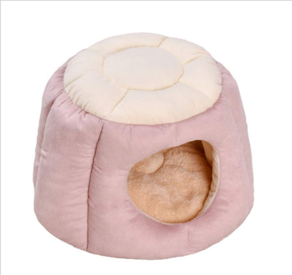 GZDXHN Winter Warm Cat Nido Pet Supplies Four Seasons Cat Sacco a Pelo Deep Sleep Small Dog House E