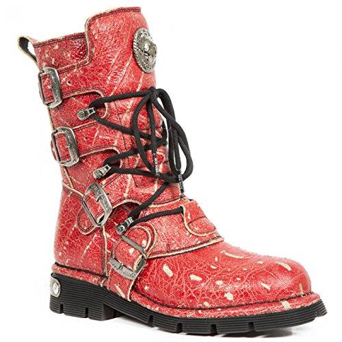 New Rock Laarzen M.1473-c42 Gothic Hardrock Punk Unisex Stiefel Rot