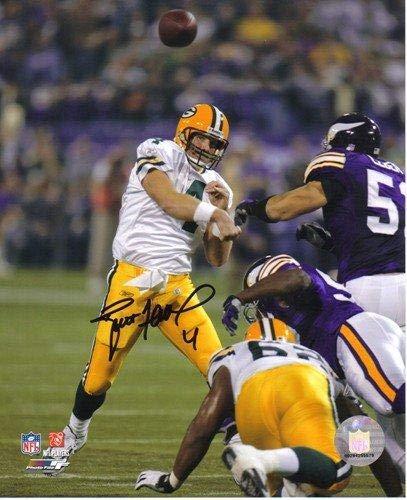 Brett Favre Autographed Photograph - 16x20 421 TD - Autographed NFL Photos Brett Favre 16x20 Autographed Photograph