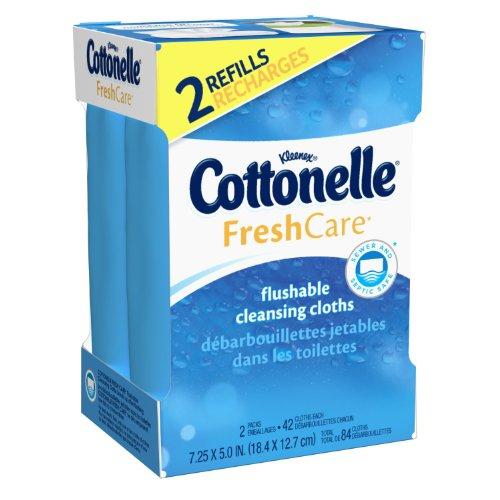 Cottonelle Fresh Care Flushable Cleansing Cloths 2 Refill...