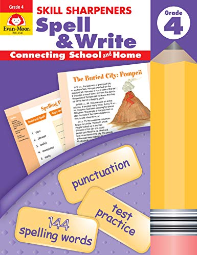 Evan-Moor Skill Sharpeners Spell & Write, Grade 4 Activity Book - Learning Enrichment Workbook for Vocabulary (Skill Sharpeners Spell & Write) ()