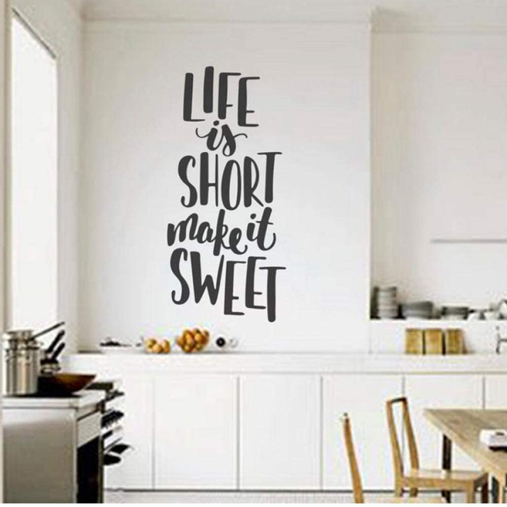 wall sticker diy life is short make it sweet quotes wall sticker
