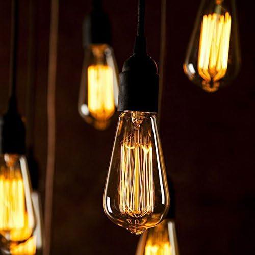 40W Edison Style Light Bulbs ST64 13 Filament Warm Light ETL Listed 6 Packs