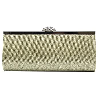 Wiwsi Makeup Lady Cosmetic Coin Purse Handbag Fashion Glitter Sequins Clutch Bag(Synthetic gold)