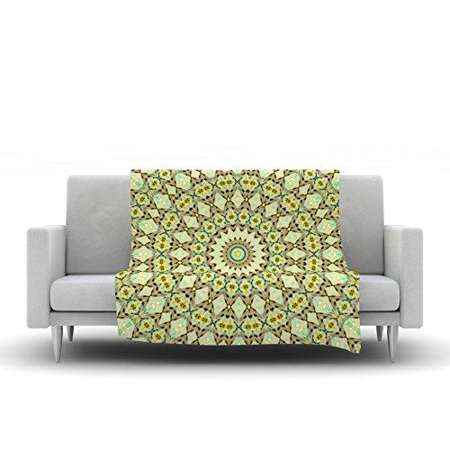 60 by 50 Kess InHouse Iris Lehnhardt Kaleidoscope Green Geometric Fleece Throw Blanket