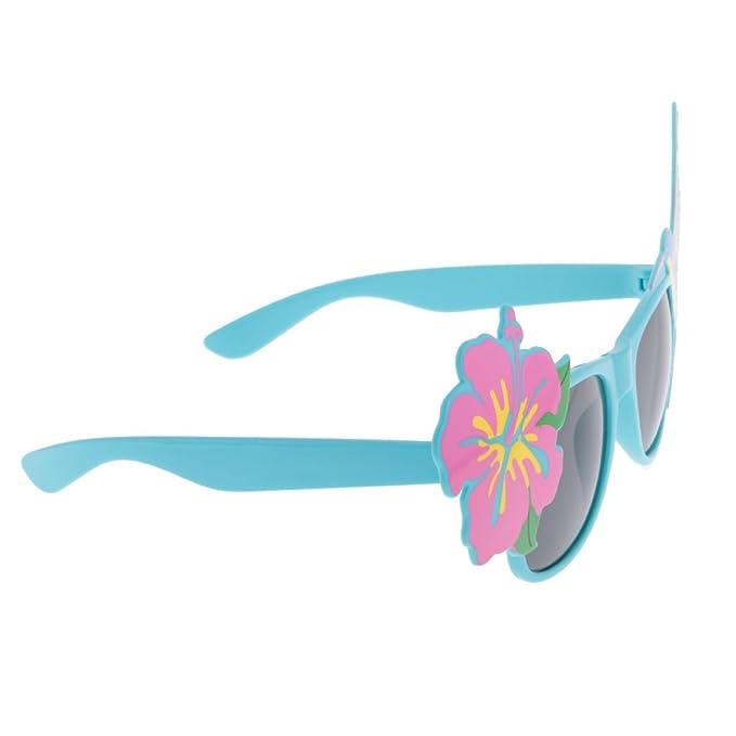 MagiDeal Occhiali Da festa Occhiali Da sole Hawaiano Geniale Decorativo Fiore Fenicoteri Naso Rosso - naso rosso, 19 x 6cm / 7.48 x 2.36 pollici