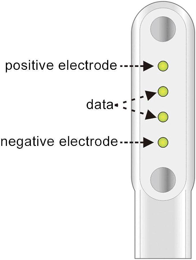 Teepao Smart Watch Ladegerät Kabel Für G3 Gt88 Kw08 Kw18 Smart Watch 4 Pins Magnetisch Saugnapf Ladegerät Magnetic Adsorption Ladekabel Für Smartwatch Küche Haushalt