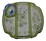 Zrike Wild Pansy Snack Tray with Attached Pansy Dip Bowl