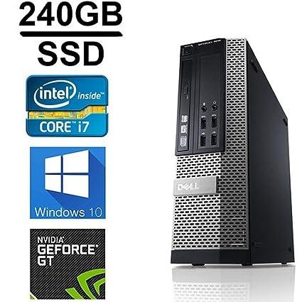 Dell Gaming Optiplex 990 Desktop Computer, Intel Core i7 3 4 upto 3 8GHz  2600 CPU, 16GB DDR3 Memory,New 240GB SSD + 1TB HDD, WiFi, Windows 10 Pro,