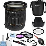 Sigma 17-50mm f/2.8 EX DC OS HSM Zoom Lens for Nikon DSLRs with APS-C Sensors 583306 [International Version] (Pro Bundle)