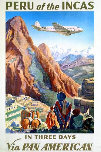 (Peru Incas Pan American Travel Artwork Ancient Ruins 11x17 Mini Poster)