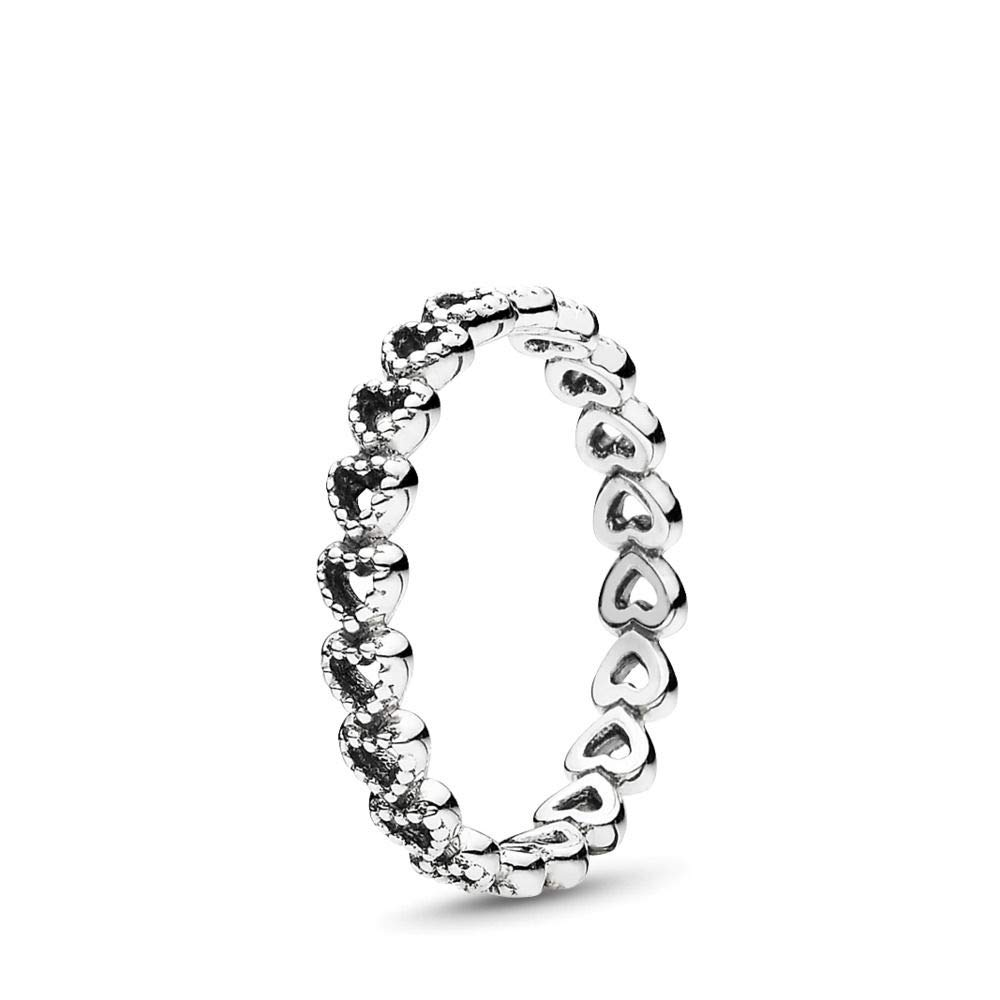 PANDORA Linked Love Ring, Sterling Silver, Size 5