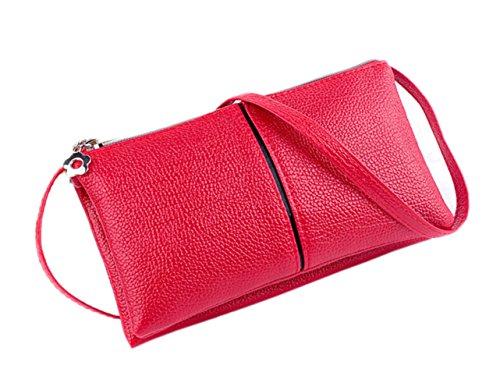 Red Wallet Crossbody ZOONAI Clutch Change Cellphone Women's Pouch Long Bag Zipper 0O1SxvpqOw