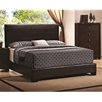 Coaster 300261KE-CO Conner King Upholstered Platform Bed, In Cappuccino