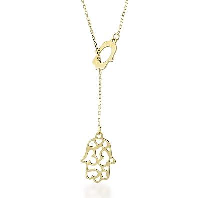 Collier pour femme en or jaune 14 carats 585 véritable avec pendentif en  forme de marteau 3ef1e74ad220