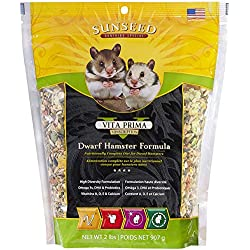 Sunseed Vita Prima Sunscription Dwarf Hamster Food, High-Variety Formula - 2 Lbs Size