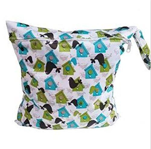 ma-on reutilizable resistente al agua cremallera bolsa para pañales bolsa de bebé (mar León Lodge y # xFF09;