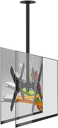 Xue Soporte de techo para TV, soporte de techo para pantalla doble para pantallas de 27