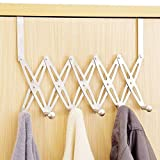 ShineMe Over the Door 6 Hooks Hanger Rack for