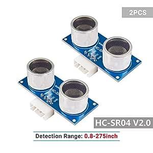 SunFounder 2 pcs Ultrasonic Module HC-SR04 Distance Sensor for Arduino UNO MEGA R3 Mega2560 Duemilanove Nano Robot Rapsberry Pi 3, 2 & RPi Model B+ XBee ZigBee