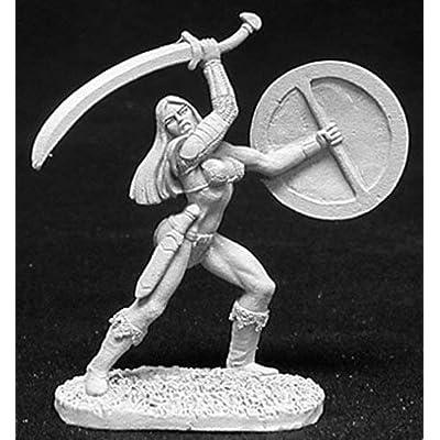 Reaper Miniatures Melorian, Female Ftr #02698 Dark Heaven Unpainted Metal: Toys & Games