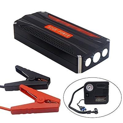 LOCEN 400A 12000mAh Portable Car Jump Starter, Emergency Battery Booster Pack with blast pump, LED Flashlight