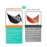 "HODGSON Camping Hammock XL Double Hammock with Heavy Duty 14 Loops Tree Straps & Air Pillow, Portable Parachute Nylon Hammock for Backpacking, Travel, 118"" x 78"""