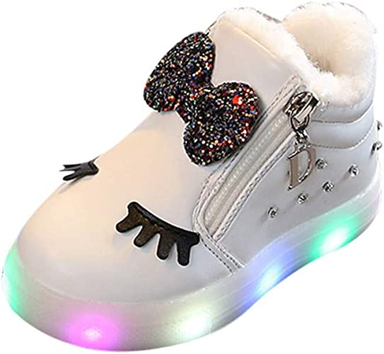 LED Light Up Luminous Shoes Kids Toddler Baby Casual Trainers Boys Girls Gift UK