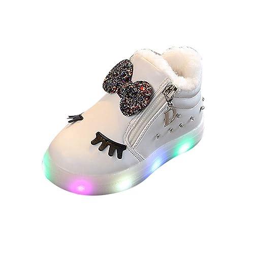 Zapatillas Luces Niña, ❤ Zolimx Niños Niñas Bebé Bowknot Cristal LED Luminoso Botas Deportivas Zapatillas Zapatos Niña Invierno: Amazon.es: Zapatos y ...