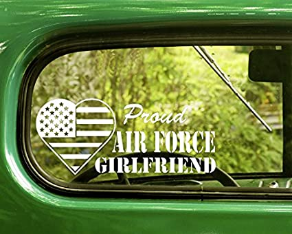 693520897bb82 Amazon.com: 2 PROUD US AIR FORCE GIRLFRIEND Decal Military Stickers ...