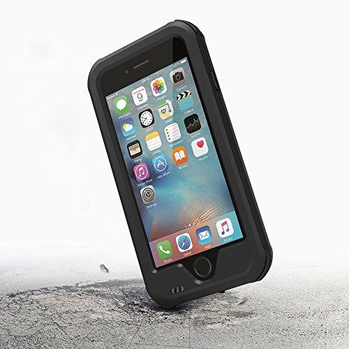 iPhone 6S Hülle,iPhone 6 Case, ZVE® Ganzkörper Outdoor Staubdicht Schneedicht Stoßfest Spritzwasserdicht Schutzhülle Tasche Bumper Cover Case mit Displayschutz für iPhone 6/6s 4.7 zoll schwarz
