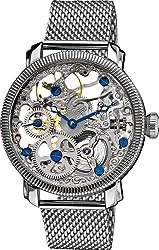 """Akribos XXIV Men's AK526SS """"Bravura"""" Stainless Steel Mesh Mechanical Bracelet Watch"""