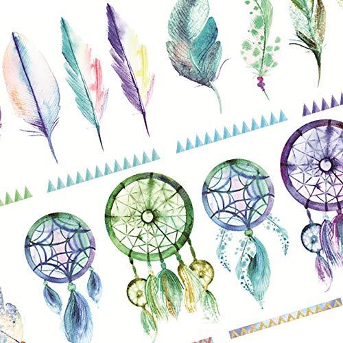 Vikenner 6 Piezas Bullet Journal Stickers Atrapasue/ños y Plumas Scrapbooking Pegatinas para Scrapbook y Bullet Journal Papeler/ía Planificador Pegatinas DIY Decoraci/ón 14.8 x 21 cm