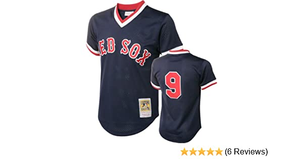 free shipping b58cd 9d9cd Mitchell & Ness Ted Williams Boston Red Sox Authentic 1990 BP Jersey