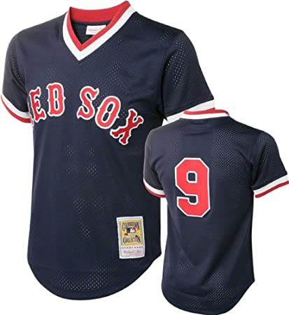 c9f3f0f23c4 Ted Williams Blue Boston Red Sox Authentic Mesh Batting Practice Jersey  5X-Large (64