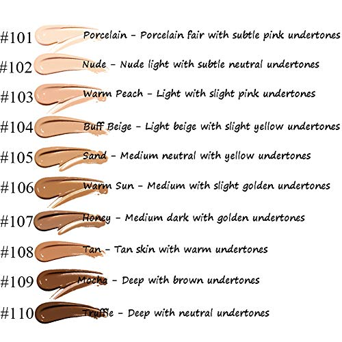 Ownest Matte Oil Control Concealer Foundation Cream,Long Lasting Waterproof Matte Liquid Foundation,102 Nude -30ml