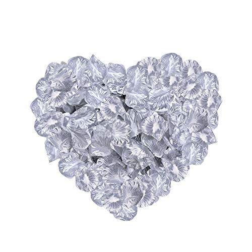 Neo LOONS 2000 Pcs Artificial Silk Rose Petals Decoration Wedding Party Color Silver