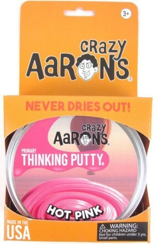 HOT PINK Primary Color Crazy Aaron's Thinking Putty Toy LARGE 4
