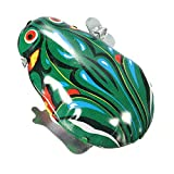 Pink Lizard Vintage Metal Wind-up Jumping Frog Clockwork Tin Toys Classic Gift