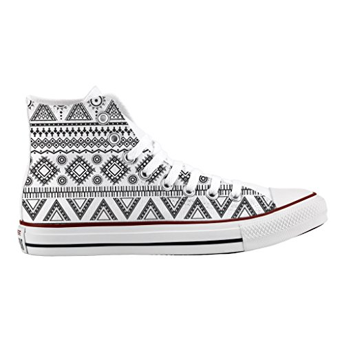 Scarpe Converse Personalizzate All Star Alta - sneakers stampa Black tribal