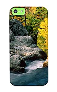 Iphone 5c Ikey Case Cover Skin : Premium High Quality Glen Ellis Falls, White Mountain National Forest, New Hampshire Case(nice Choice For New Year's Day's Gift)