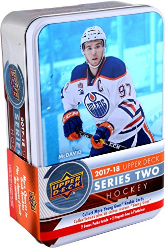 Sports Memorabilia 2017-18 Upper Deck Hockey Series 2 Factory Sealed 12 Pack Tin - Hockey Wax Packs (Upper Deck Memorabilia)