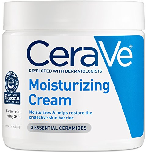 CeraVe Moisturizing Cream 16 oz Daily Face and Body Moisturizer for Dry (Dry Face)